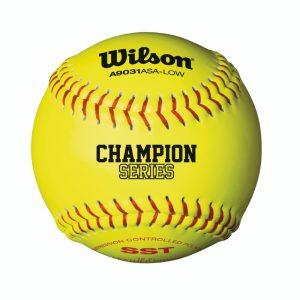 MOX1003073 300x300 - Wilson A9031 ASA Low Optic Yellow Fastpitch Softball 12 Pack