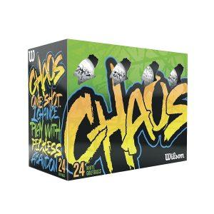 MOX1109990 300x300 - Wilson Chaos Golf Balls - 24 Balls  Multi-Color