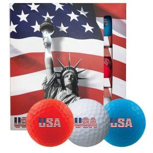 MOX1115856 300x300 - Volvik USA Golf Ball Pack - 3 Sleeves - Red White Blue