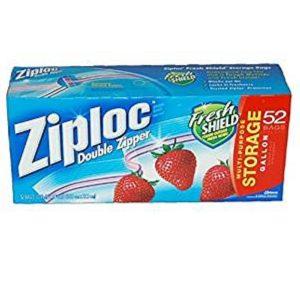 MOX2160510 300x300 - Ziploc Double Zipper Gallon Storage Bags - 52-Count
