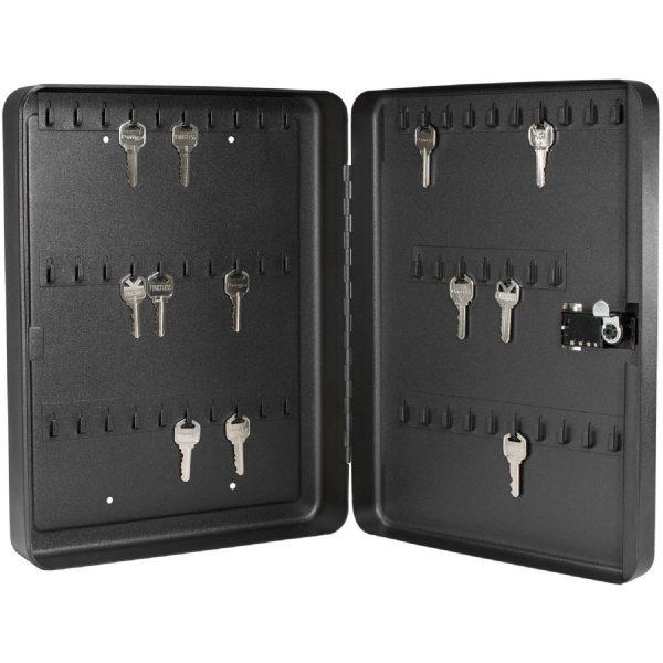 MOX4009760 600x600 - Barska 60 Keys Lock Box With Combination Lock Black