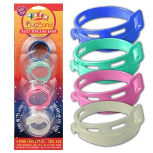 MOX4009901 300x300 - BugBand Repellent Wristband Family Pak 4 Assorted Colors