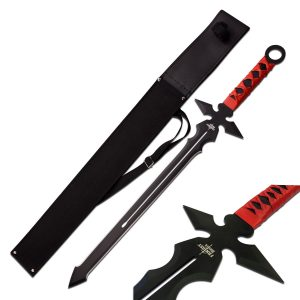 MOX4011288 300x300 - Fantasy Master Short Blade Sword 26in Overall w- Red Handle