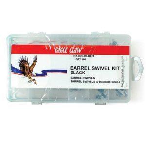 MOX4014205 300x300 - Eagle Claw Black Barrel Swivel Kit with 186 Pieces