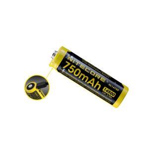 MOX4017666 300x300 - NITECORE NL1475R 750mAh 14500 MicroUSB RCHRGBL Li-ionBattery