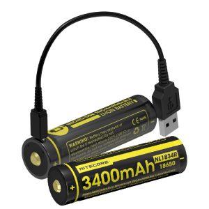 MOX4017669 300x300 - NITECORE NL1834R 3400mAh USB RCHRGBL 18650 Li-ion Battery