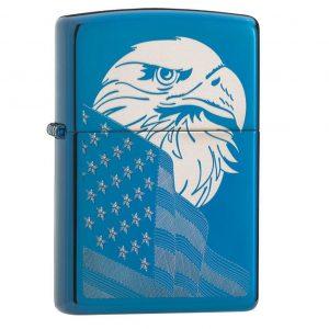 MOX4019216 300x300 - Zippo HP Blue Eagle and Flag Design Lighter