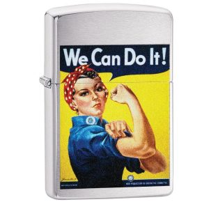 MOX4019218 300x300 - Zippo Brushed Chrome US Army We Can Do It Design Lighter