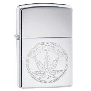 MOX4019219 300x300 - Zippo HP Chrome Bob Marley Leaf Lighter