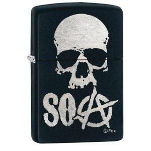 MOX4019220 300x300 - Zippo Matte Black Sons of Anarchy Lighter