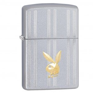 MOX4019222 300x300 - Zippo Satin Chrome Playboy Bunny Lighter