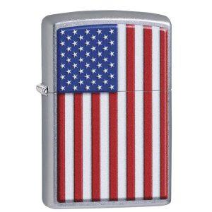 MOX4019244 300x300 - Zippo Street Chrome Patriotic Lighter