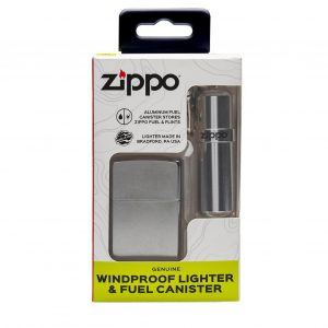 MOX4019245 300x300 - Zippo Street Chrome and Fuel Canister Combo Set