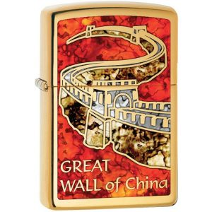 MOX9000758 300x300 - Zippo Brass Fusion The Great Wall of China Lighter