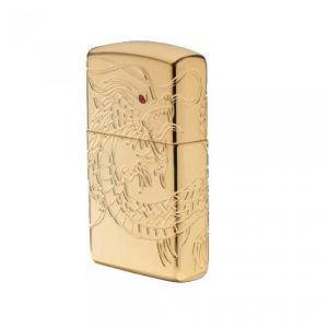 MOX9000760 300x300 - Zippo Armor Gold Plated Asian Dragon Lighter
