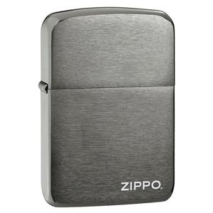 MOX9000764 - Zippo Black Ice 1941 Replica with Zippo Logo Lighter