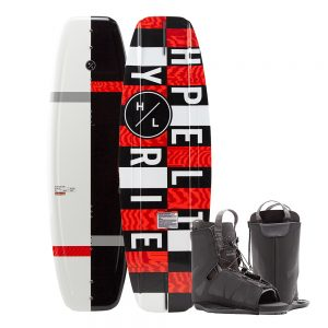 CW82388 300x300 - Hyperlite Motive Wakeboard 140 cm w-Frequency Boot - 2020 Edition - Black-Red