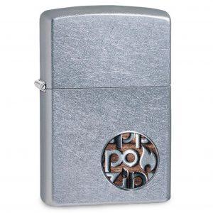 MOX4019498 300x300 - Zippo Street Chrome Zippo Button Logo Lighter