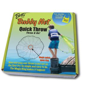 MOX5015262 300x300 - Betts Buddy Quick Throw Net 3.5ft 0.375in mesh Chartreuse