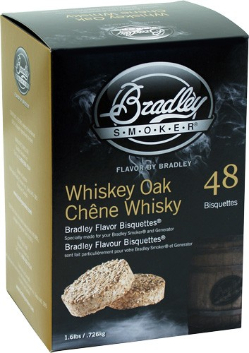 ZABTWOSE48 - Bradley Smoker Whiskey Oak Se - Flavor Bisquettes 48 Pack!