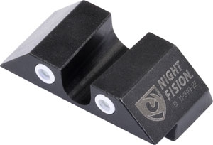 "ZAGLK001007WGWG 2 - Night Fision Tritium White Dot - ""u"" Rear Glock Sight Set"