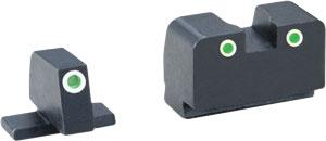 ZAXD181 - Ameriglo Tritium Suppressor - Set Grn-grn All Sprg Xd Models