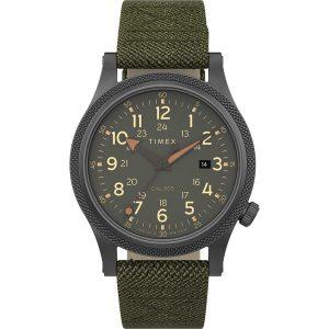 CW80788 300x300 - Timex Allied LT 40mm - Green Fabric Strap, Grey Case & Green Dial