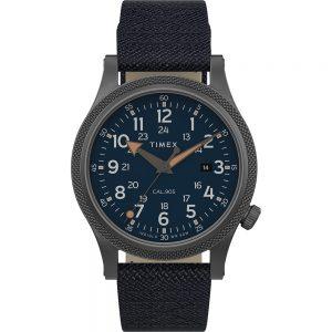 CW80789 300x300 - Timex Allied LT 40mm - Blue Fabric Strap, Grey Case & Blue Dial