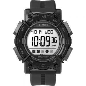 CW80811 300x300 - Timex Expedition Digital Face 47mm - White Screen w-Black Resin Strap