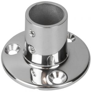 "CW83639 300x300 - Sea-Dog Rail Base Fitting 2-3-4"" Round Base 90 316 Stainless Steel - 1"" OD"