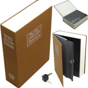 ZABD1182 300x300 - Bulldog Diversion Book Safe - Brown 3 Wheel Combination Lock