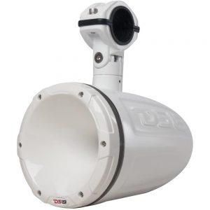 "CW84122 300x300 - DS18 HYDRO 1.75"" Driver Wakeboard Pod Tower Speaker w-RGB LED Lights - 900W - White - Single"