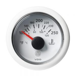 "CW84272 300x300 - VDO Marine 2-1-16"" (52mm) Viewline Temperature Gauge 120C-250F - 8-32V - White Dial & Bezel"