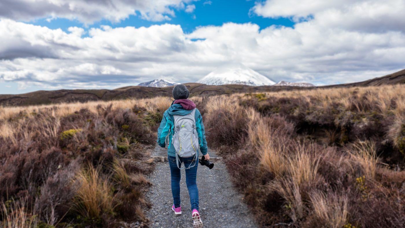 woman in hiking gear