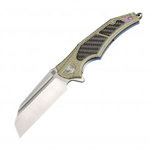 MOX4017949 2 300x300 - Artisan Apache Nomad Folder 3.82 in Fancy Green Titanium