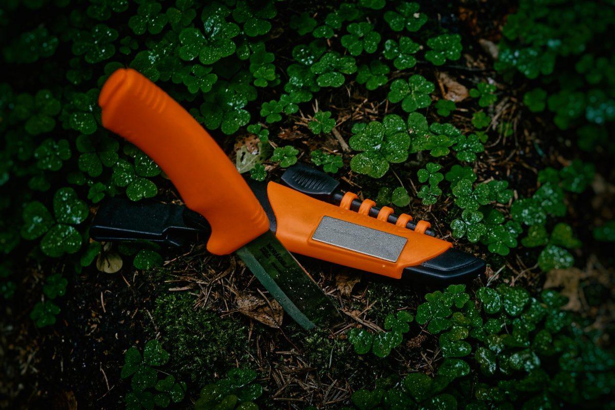 orange camping knife