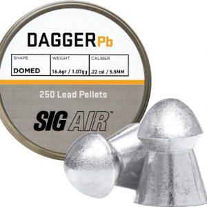 ZAS15902 300x300 - Sig Pellets .22 Dagger Domed - 16.60gr Lead Alloy 250 Ct.