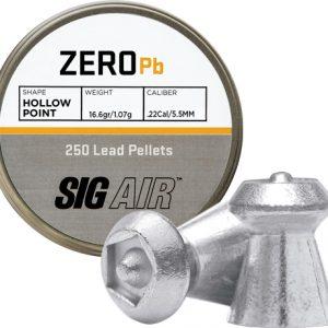 ZAS15940 300x300 - Sig Pellets .22 Zero 16.6gr - Hp Tip Lead Alloy 250 Ct.