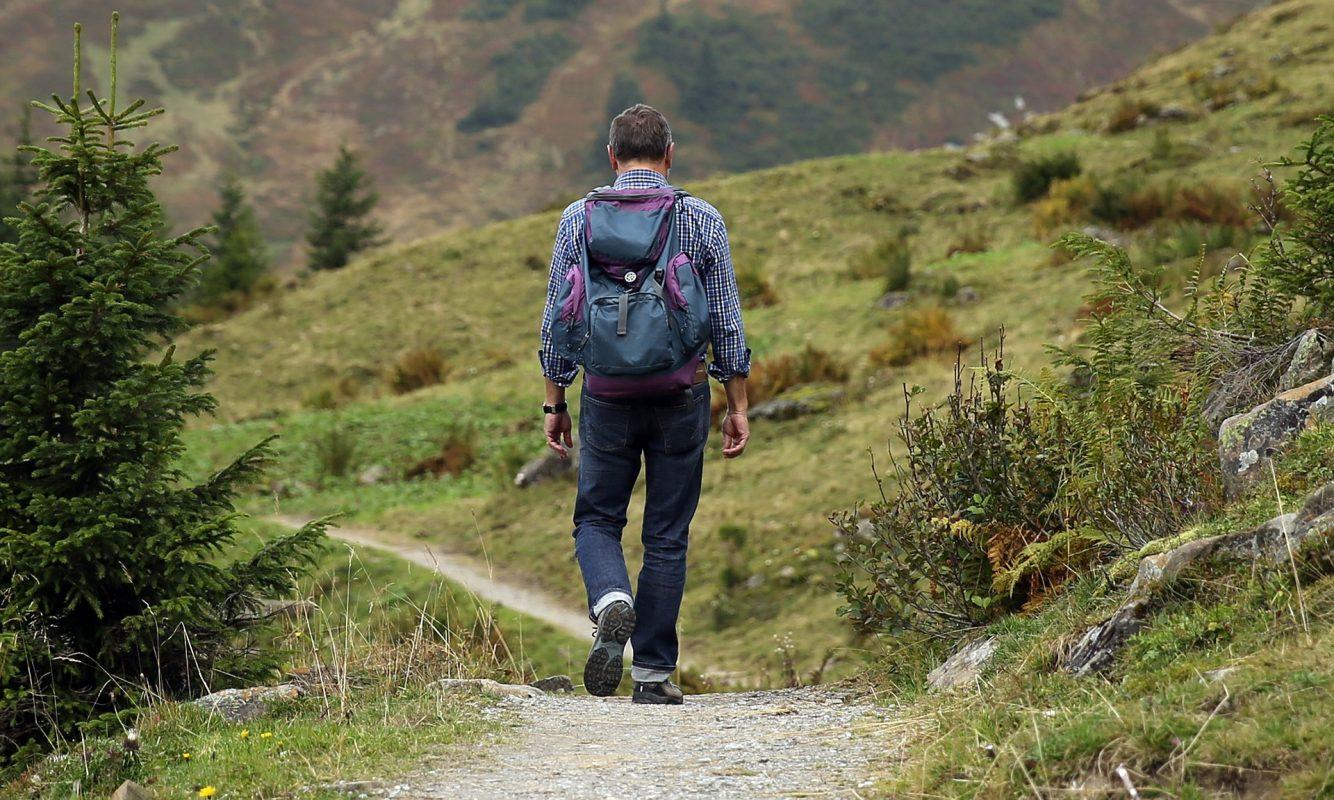 man treking